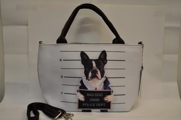 Textiles handbag<br>dogs print Bad Dog 1