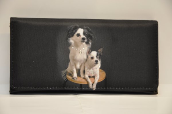 wallet with 2 dogs print
