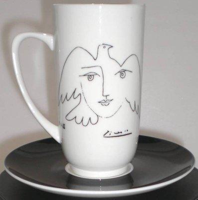 Picasso Tasse +<br>Untersetzer
