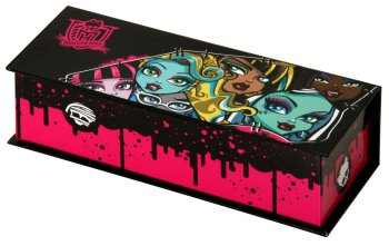 BOITE A CRAYONS MONSTER HIGH  AVEC COUVERCLE22X8 C