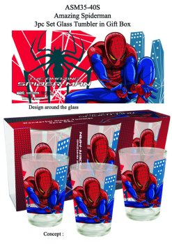 SET DE 3 VERRES AMAZING SPIDERMAN  250 ML*