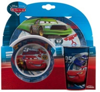 SET DEJ. CARS PISTONS 3 PCS DIAM.20cm MELAMINE- ar