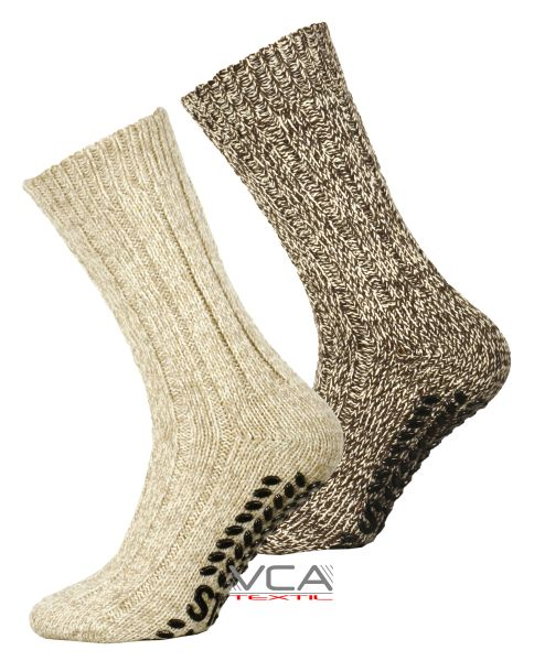 Norwegian knitting<br> socks with<br>anti-slip sole Wool