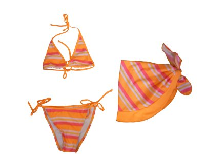 Girls bikini swimsuit with pareo