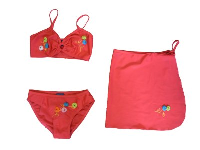 Girls bikini swimsuit with pareo! 3 parts!
