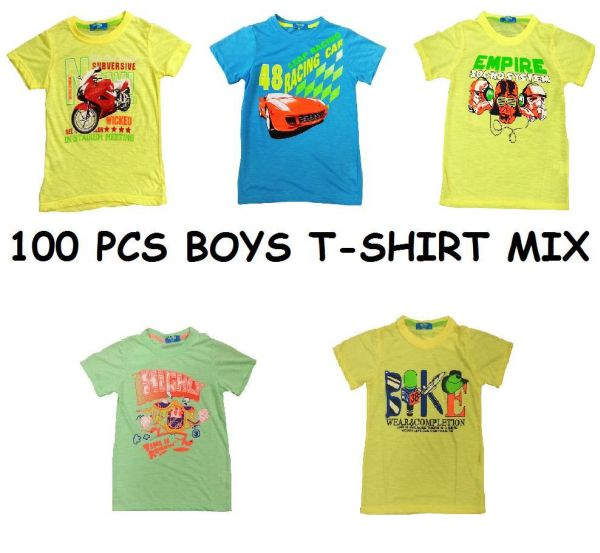 Kinder Jungen<br>T-SHIRT MIX 100 PCS