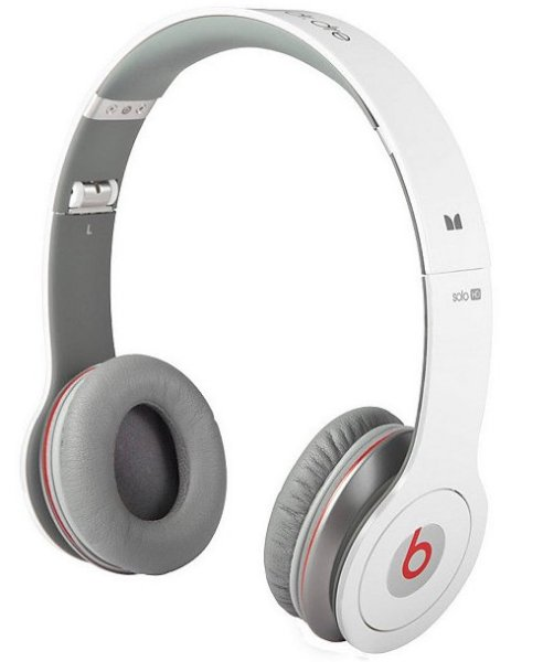 Monster beats solo HD by dr.dre., White