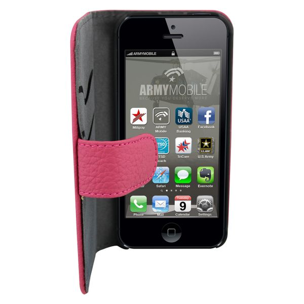 Leather2 Case for<br> Apple iPhone 5/5 S<br>Dark pink