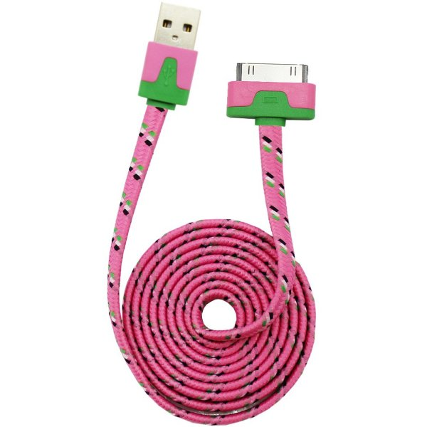 USB-Kabel Farbe<br> für iPad / iPhone<br>4/4 S / iPod ros