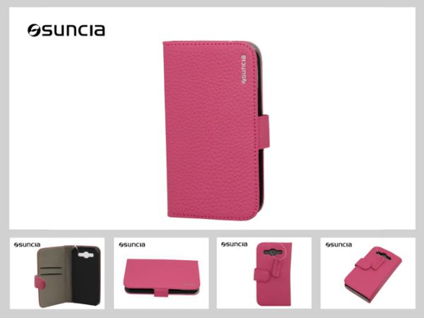 Case Leather2 Sony<br> Xperia Z1 Classic<br>Dark Pink