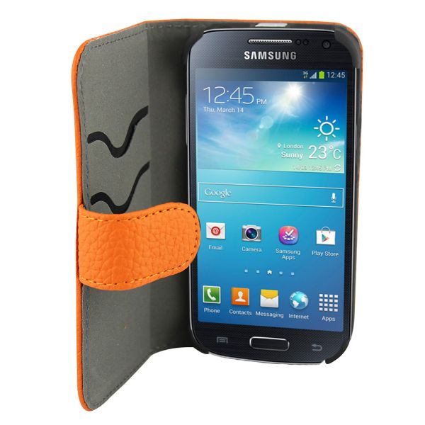 Samsung i9190 Case<br> Leather2 / i9192 /<br>i9195 S4 Min