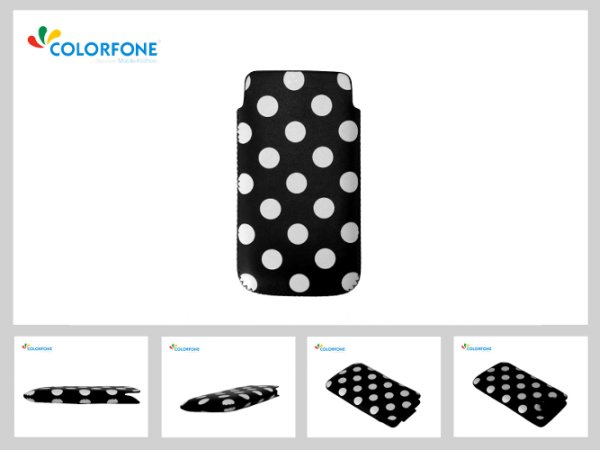 Case Handheld Color Size XXL Black + White Point