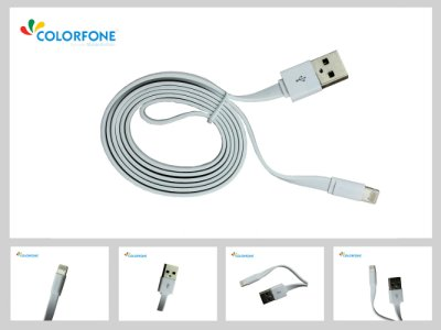 USB Cable Pro<br> Apple iPhone 5,<br>iPod White