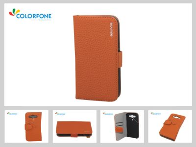 Case for Apple<br> iPhone 5/5S Orange<br>Leather2