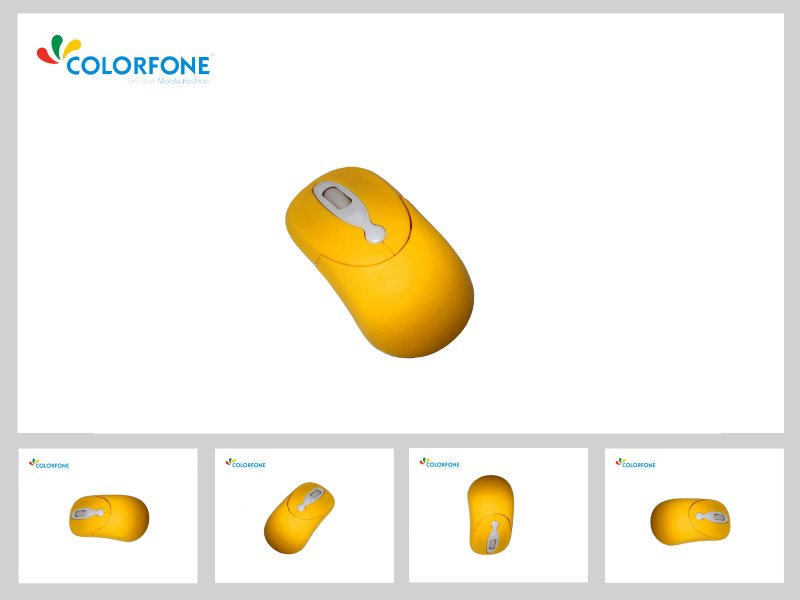 Optical Mouse<br> &#39;Coco&#39;<br>Yellow