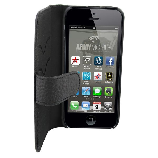 Leather Case # 2<br> for iPhone 5/5 S<br>Classic Black