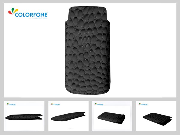 Case Handheld Color Size XL Black Crocodile