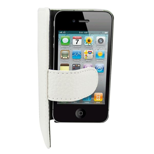 Leather2 Case for<br> Apple iPhone 4/4 S<br>White
