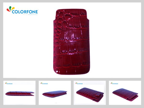 Case Handheld<br> Color Size XL Red<br>Crocodile
