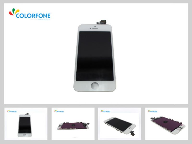 LCD Display +<br> Touch Screen for<br>Apple iPhone 5 Whit