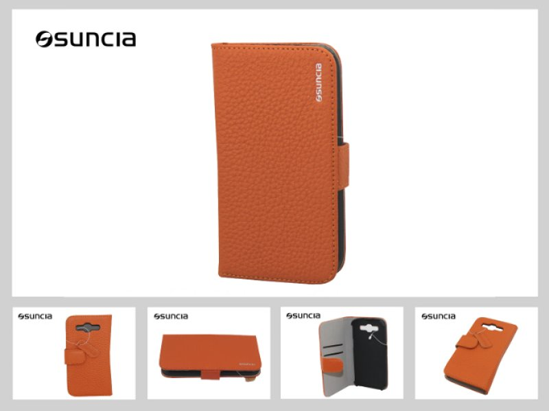 Case Leather2<br> Samsung i9300<br>Galaxy S3 Orange