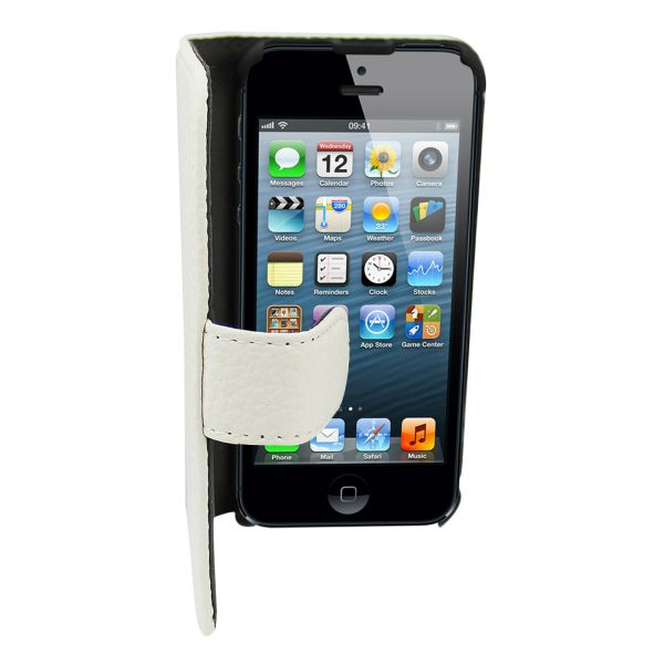 Leather2 Case for<br> Apple iPhone 5/5 S<br>White