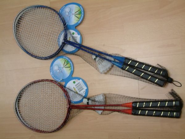 Badminton set, assorted 3-fold