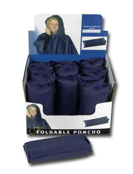 Deszcz poncho m.<br> Kaptur, 12er<br>wyświetlacz