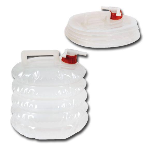 Wasserkanister<br> faltbar,<br>transparent, 5 Ltr.