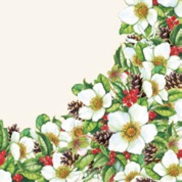 Serviette<br> Helleborus cream<br>25x 25cm