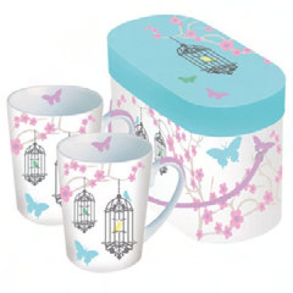 Mug in Box Pastel<br>Birds of 2