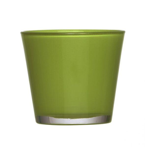 Conical glass D10<br>H9cm light green