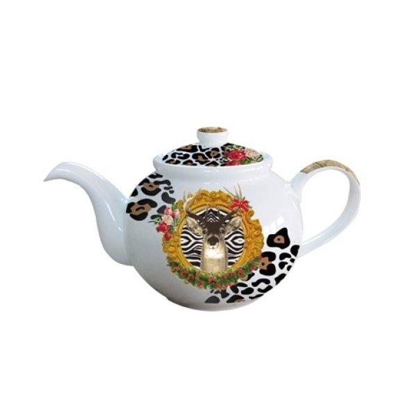 Teekanne Deer<br>Leopard Porzellan