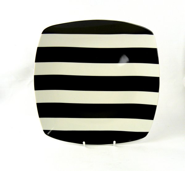 Teller Quad 30cm<br>Black Stripes Porz.