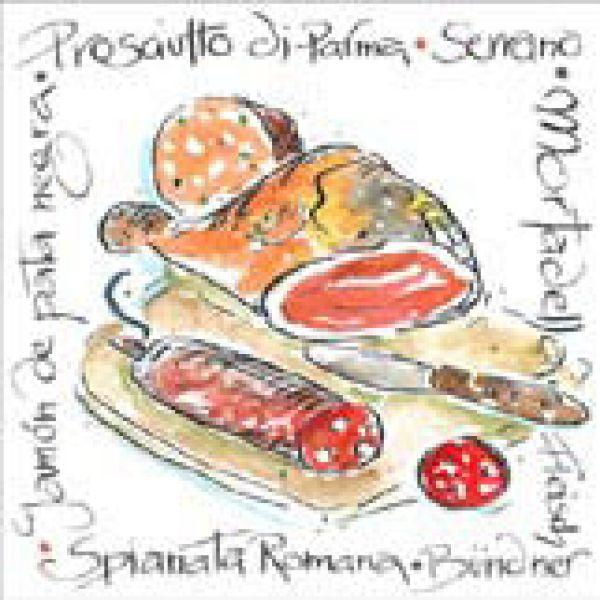 Serviette Sausages<br>Mix 33x 33cm