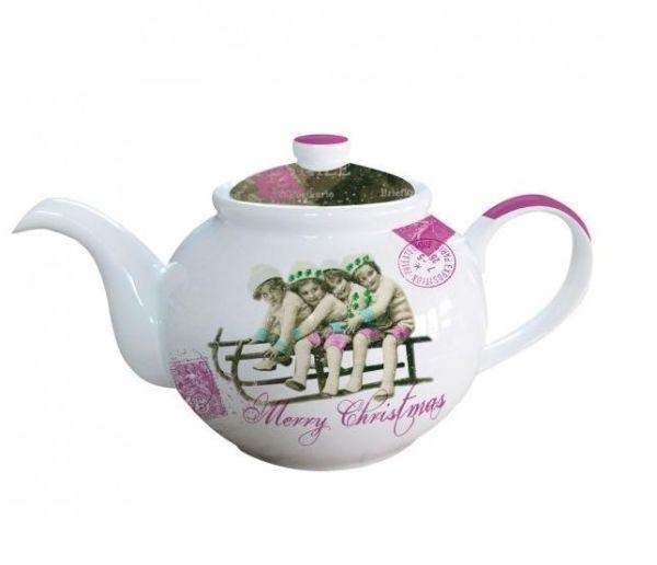 Teekanne Vintage<br>Christmas Porzellan