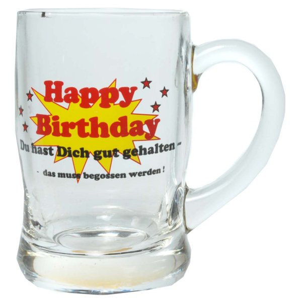 Happy Birthday<br>Beer Mug Glass
