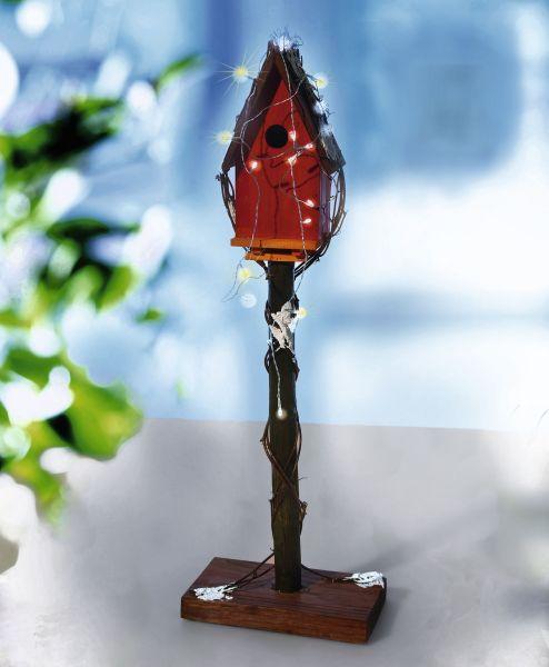 Holz Vogelhäuschen H90cm