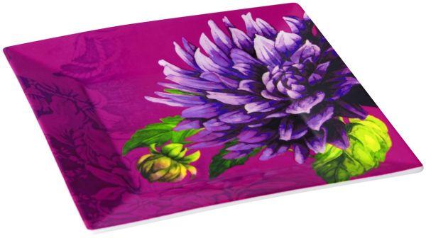 Porcelain plate<br> Purple Passion<br>18,5x18,