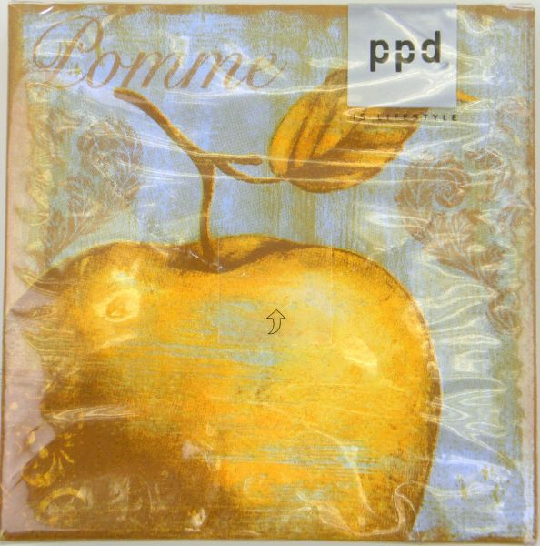 C.- Serviette  Golden Apple  25x 25