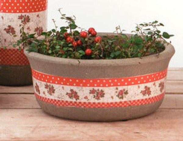 Pflanzschale Patch<br>rot D22 H9,5 Keramik