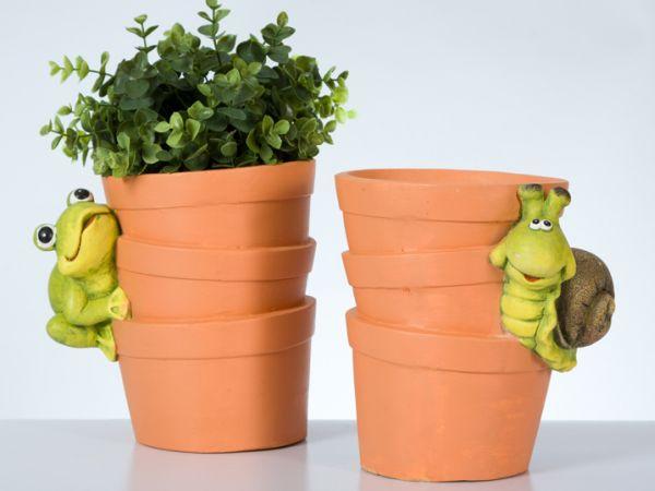 Pflanztopf mit<br>Gartentier Magnesium