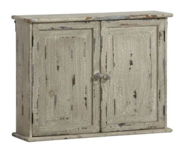 44x 56x 15cm<br> wooden wall<br>cabinet gray