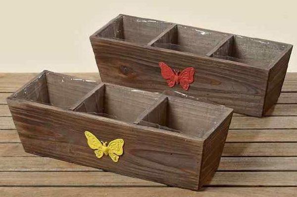 Pflanztopf Ashton<br>2er Set 39cm Holz