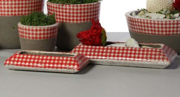 Pflanzschale Caro<br>9x 18,5x 4cm Keramik