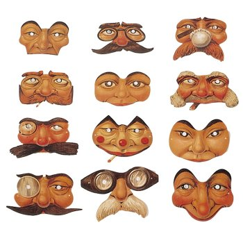Nostalgiehalbmasken <br>klein