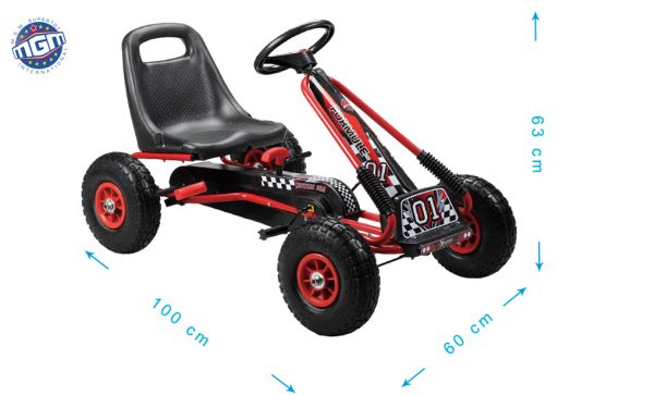 Box KART 101X61X61.5 CM CM METAL BRAKE - 5 +