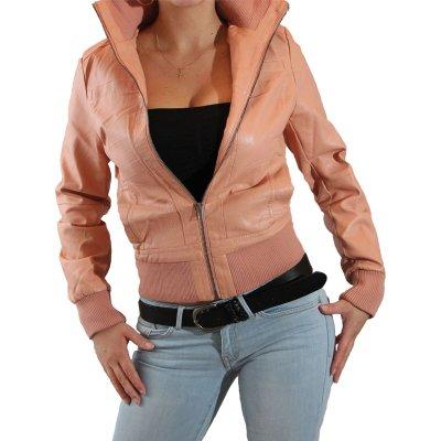 Faux chaqueta de<br> cuero chaqueta de<br>las señoras de
