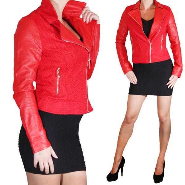 Faux Leather<br> Jacket kurtka<br> skórzana kurtka ...