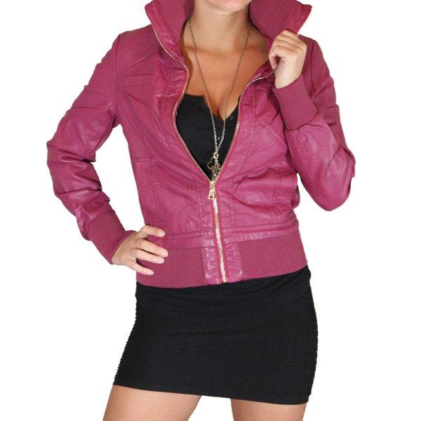Kurtka Faux<br> skórzany kobiet<br>kurtka Jacket